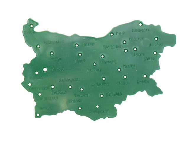 Geografski Shablon Karta Na Blgariya Estrela