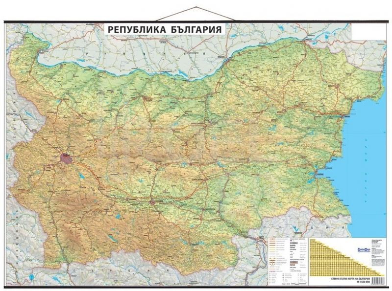 Datamap Stenna Ptna Karta Na Blgariya