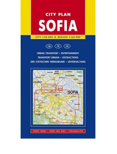 City Plan of Sofia and Area