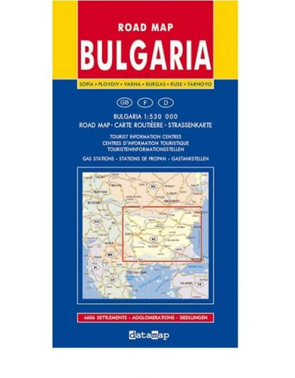 Road Map of Bulgaria