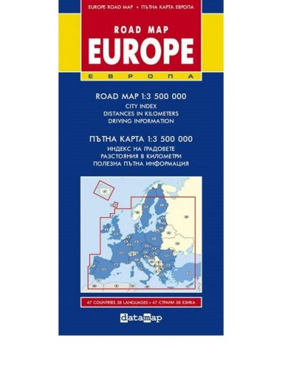 Datamap Ptna Karta Na Evropa Road Map Europe